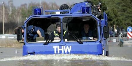 THW Hochwassereinsatz